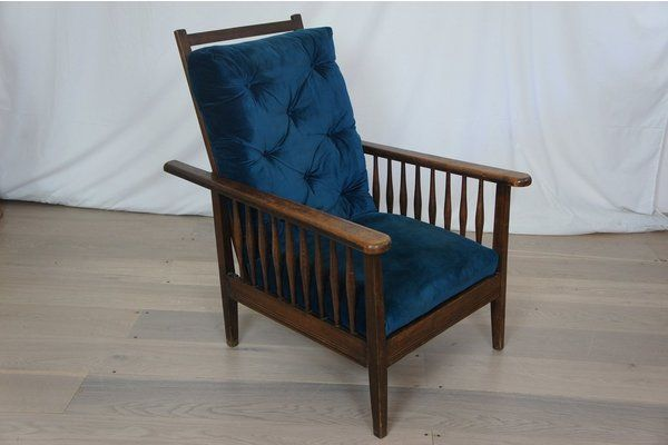 Beau Blue Reclining Steamer | Vinterior London #vintage #preloved #design  #interiors #furniture