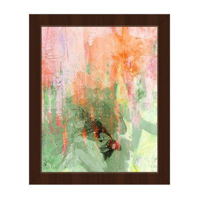 "Click Wall Art Memorium Grassland Framed Painting Print on Canvas Size: 26.5"" H x 22.5"" W x 1"" D, Frame Color: Espresso"