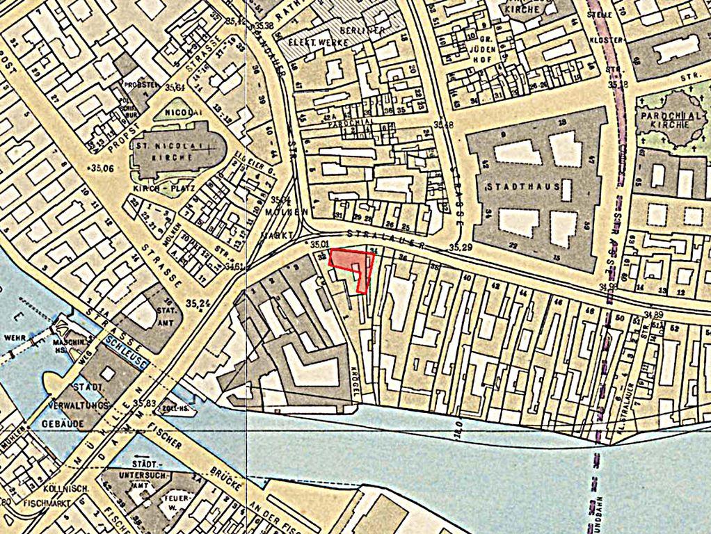 Das Muhlendamm Moltkemarkt Postrasse Spandauerstrasse Stadthaus Straubeplan Von 1910 Rotes Rathaus Alte Bilder Berlin