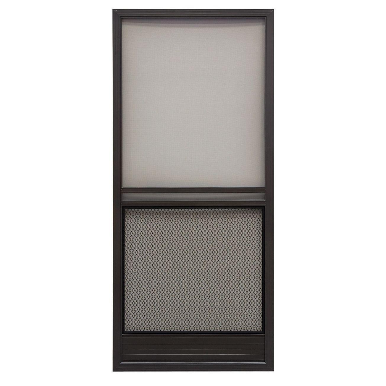 Superior Products Corp® Capri Series Formed Aluminum Screen Door in Bronze - Ace Hardware  sc 1 st  Pinterest & Superior Capri 36in Reversible Aluminum Screen Door in Bronze ... pezcame.com