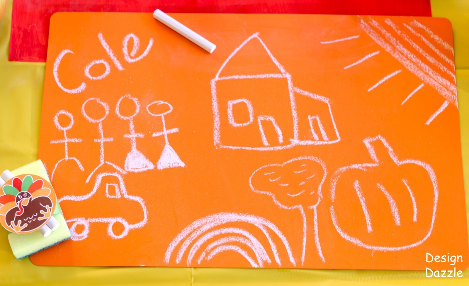 Diy Chalkboard Paint Contact Paper Placemats Design Dazzle Diy Chalkboard Paint Thanksgiving Kids Table Decorations Diy Placemats