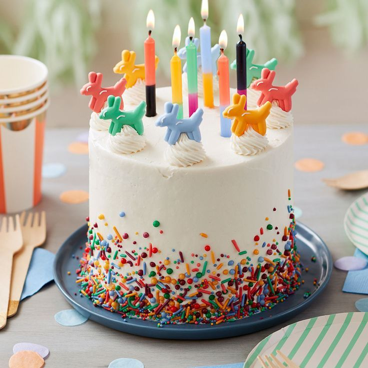 Topped with cute edible balloon animal decorations and