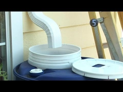 005 How to Make a Rainwater Collection System Rain barrel