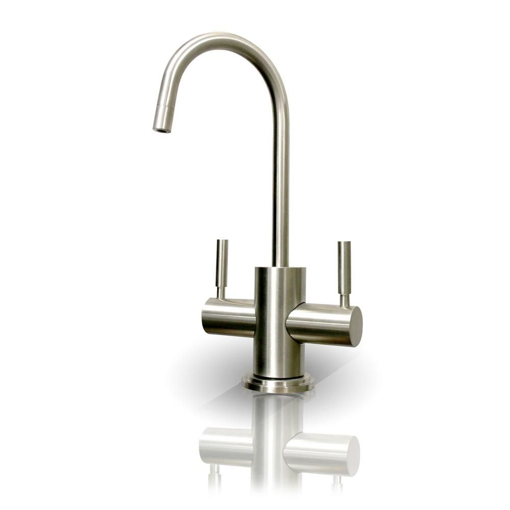 99a350b1a27 APEC Water Systems Westbrook 2-Handle Instant Hot and Cold Reverse Osmosis  Drinking Water Dispenser Faucet in Brushed Nickel