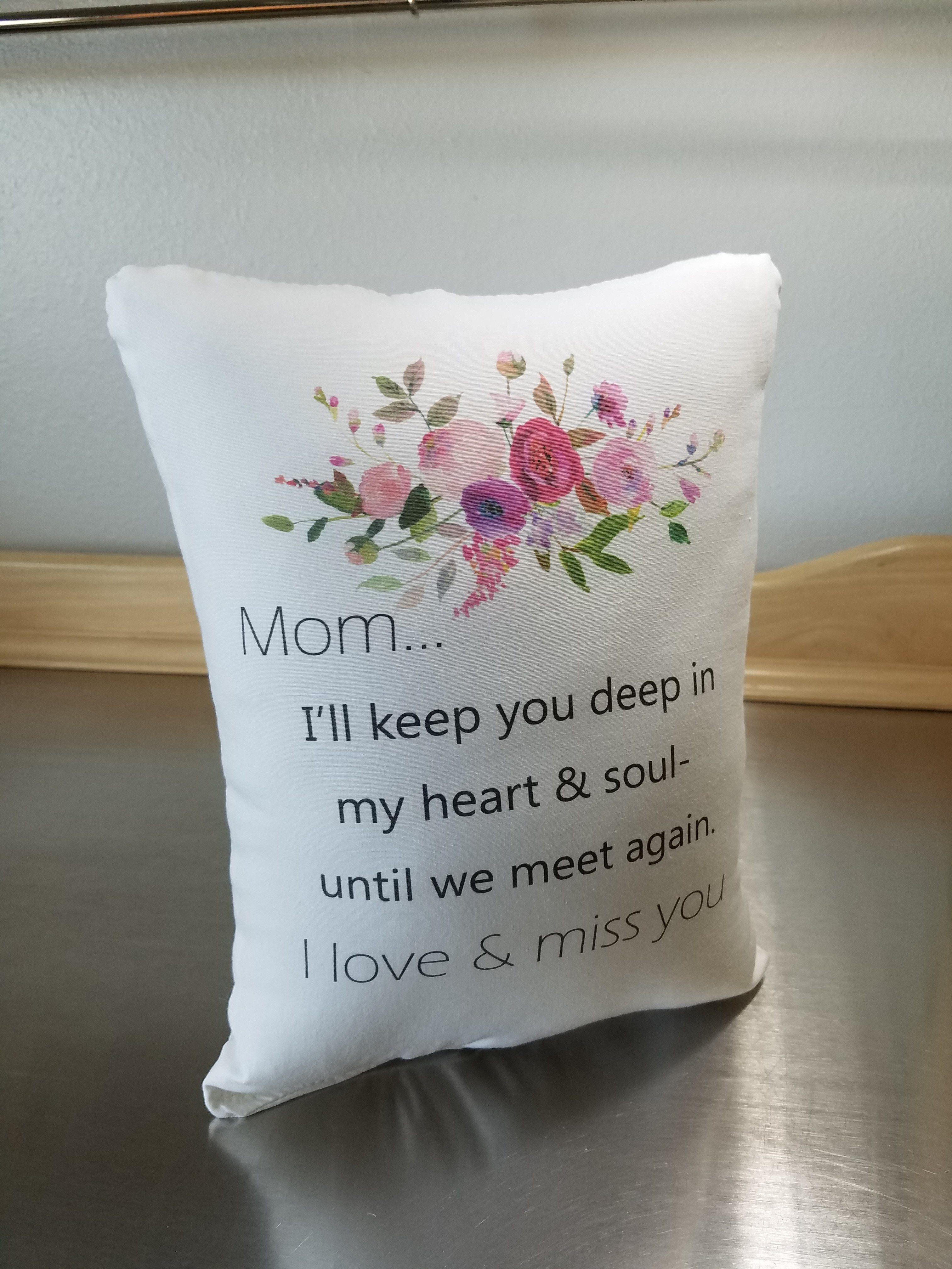 mom memory pillow throw pillow loss of