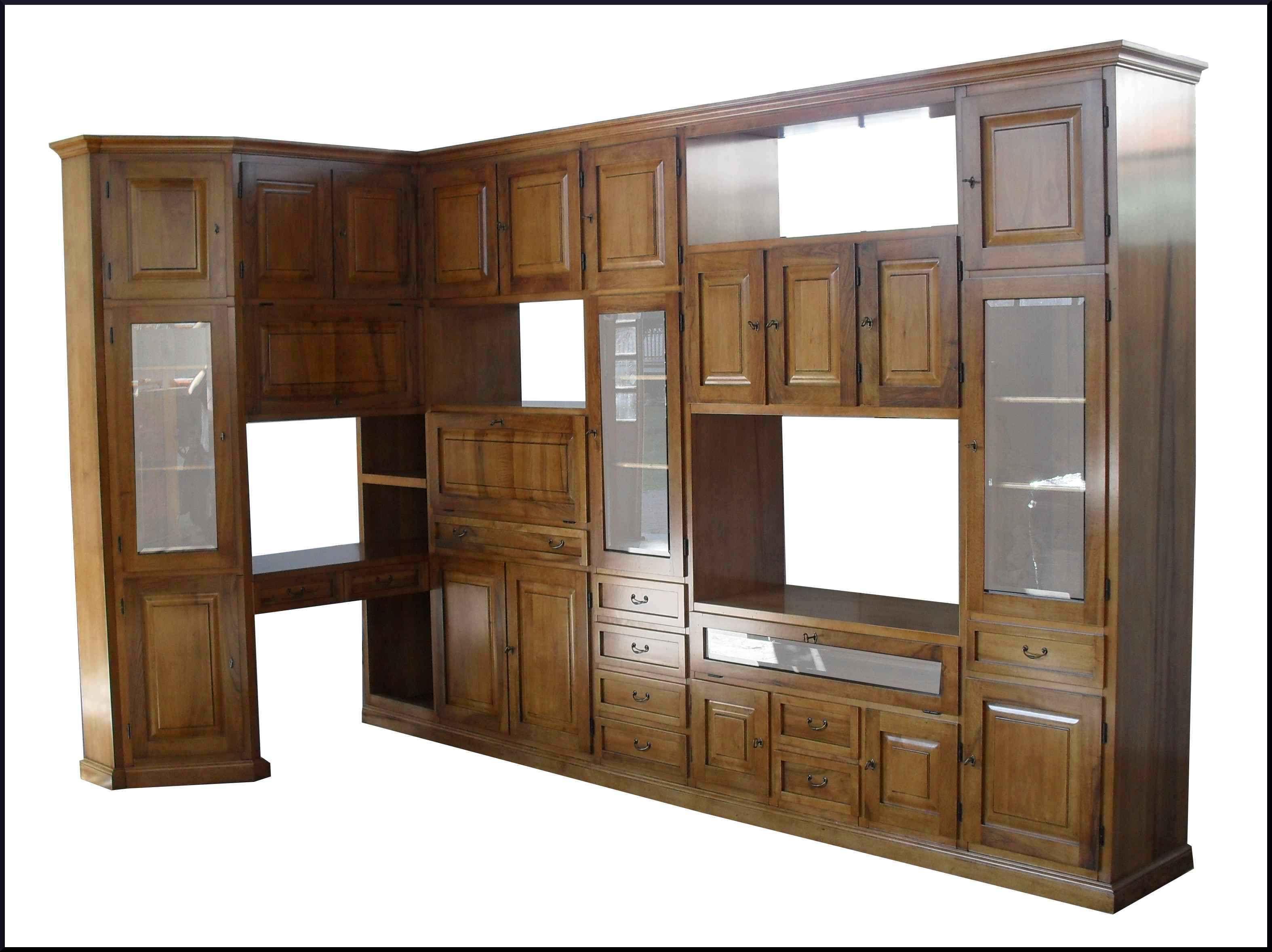Mensole In Cartongesso Ad Angolo parete attrezzata ad angolo classica in noce su misura (con