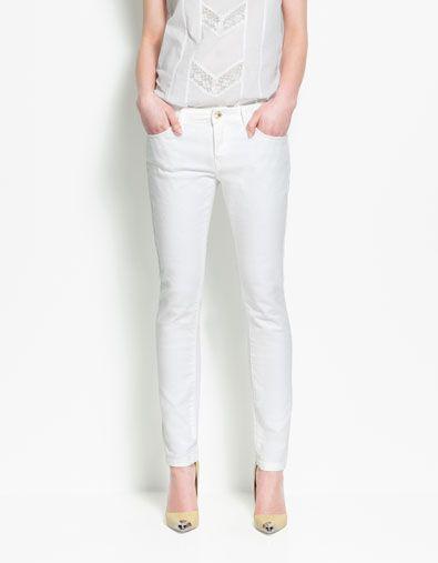 224c5281 SLIM FIT DENIM - Trousers - Woman - ZARA United States   Turn to the ...