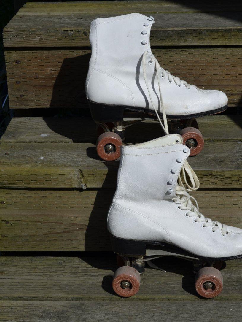 Roller skating rink quad cities - Vintage Roller Skates Chicago Disco Old School Quad Skates Retro Roll Rite Wheels No 76p Womens