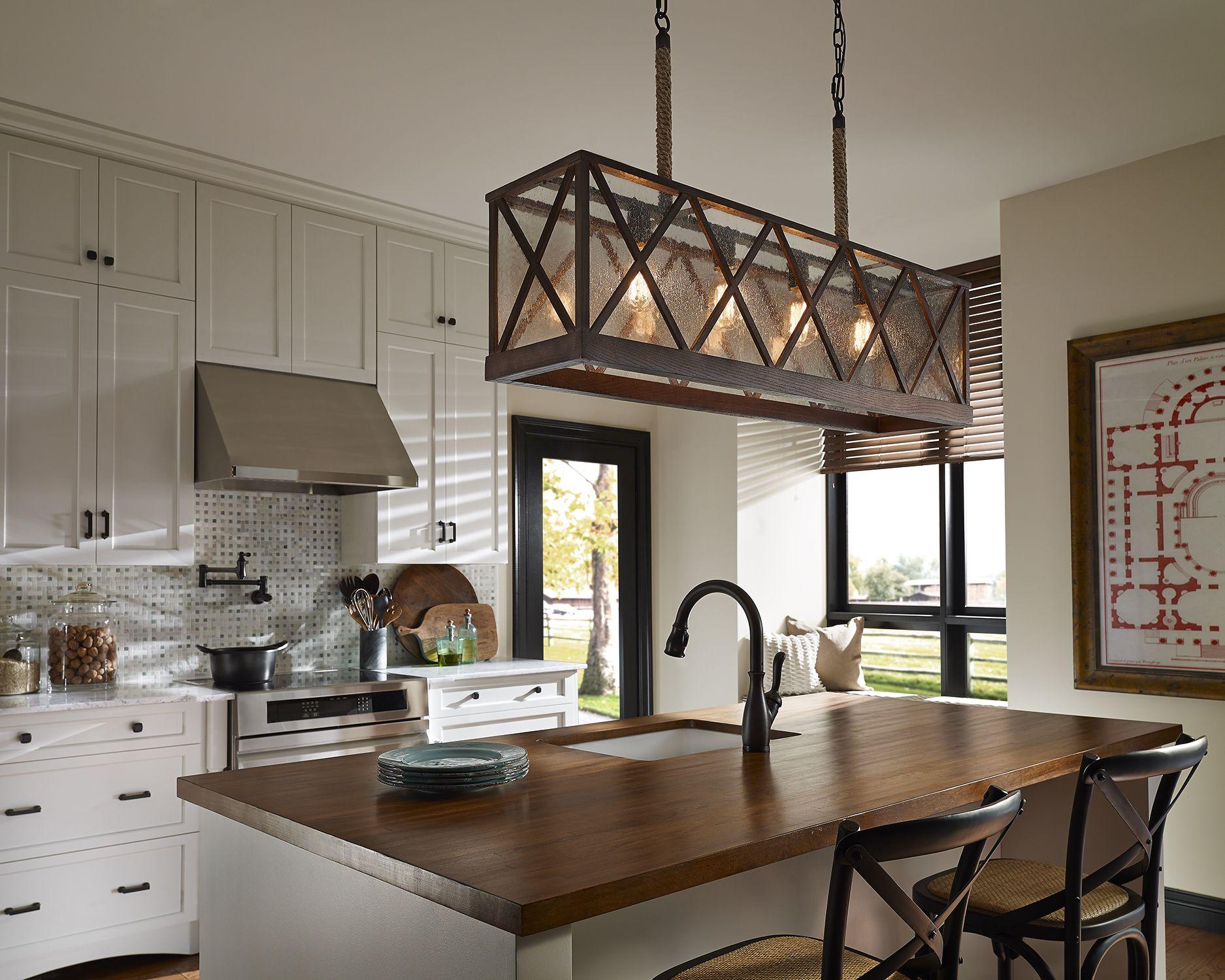 Lumiere FourLight Linear Chandelier Kitchen remodel