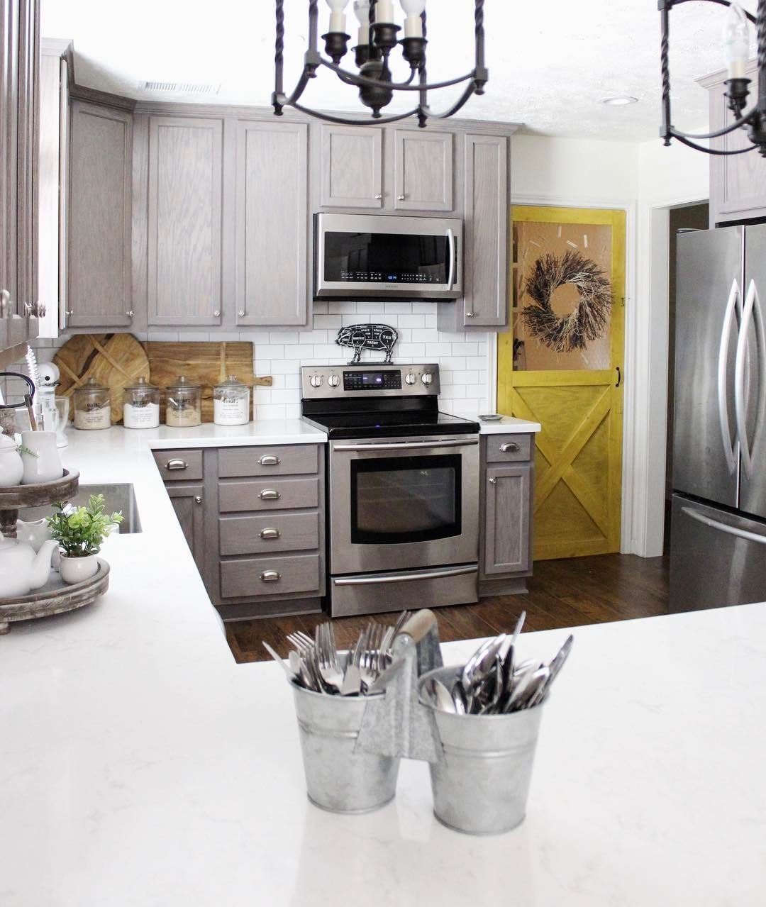 Best Txsizedhome S Gray Painted Cabinets And Adorable Yellow 640 x 480