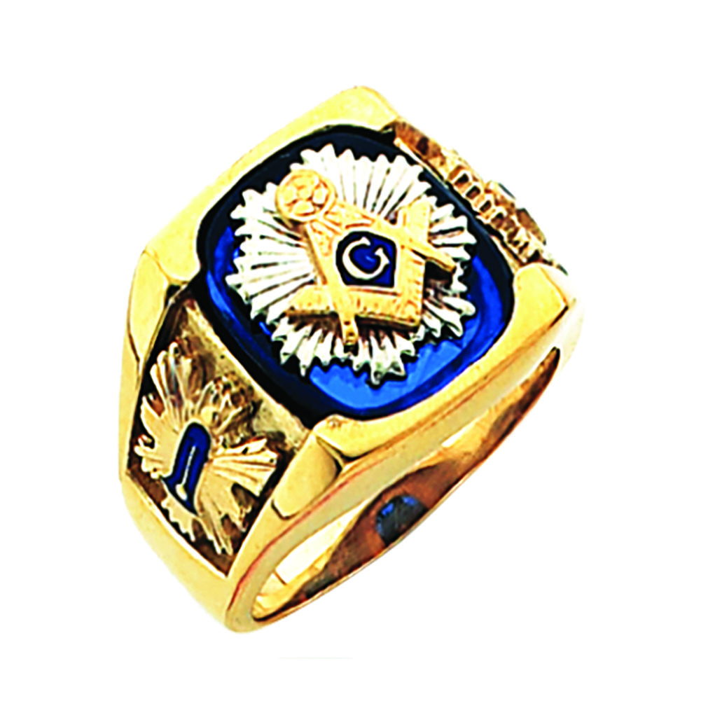Masonic Ring Open Back In 10k Gold Flh702bl 10k 1 066 50 Fratline Emblematics Custom Fraternal Lapel Pins Masoni In 2020 Masonic Ring Masonic Jewelry Rings