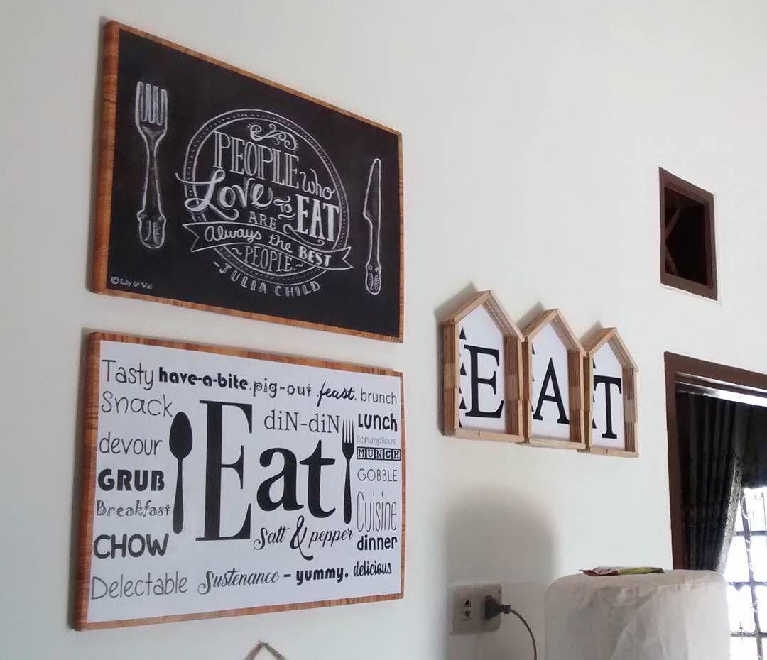 Hiasan Dinding Ruang Makan Dapur Dari Stik Es Krim Kerajianan Tangan Buatan Sendiri Living Room Designs