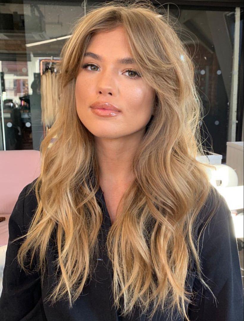 Curtain Bangs Haircut For Long Hair Balayagehairwithfringe Bangs Curtain Hair Haircut In 2020 Haircuts For Long Hair Bardot Hair Long Hair With Bangs