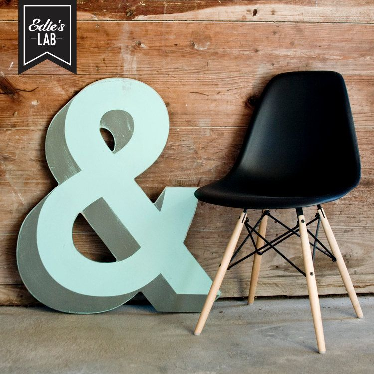 Large 3d Vintage Sign Inspired Wood Ampersand Wall Decor Design