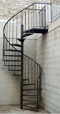 Escalera exterior patio buscar con google escaleras en for Escaleras metalicas planos