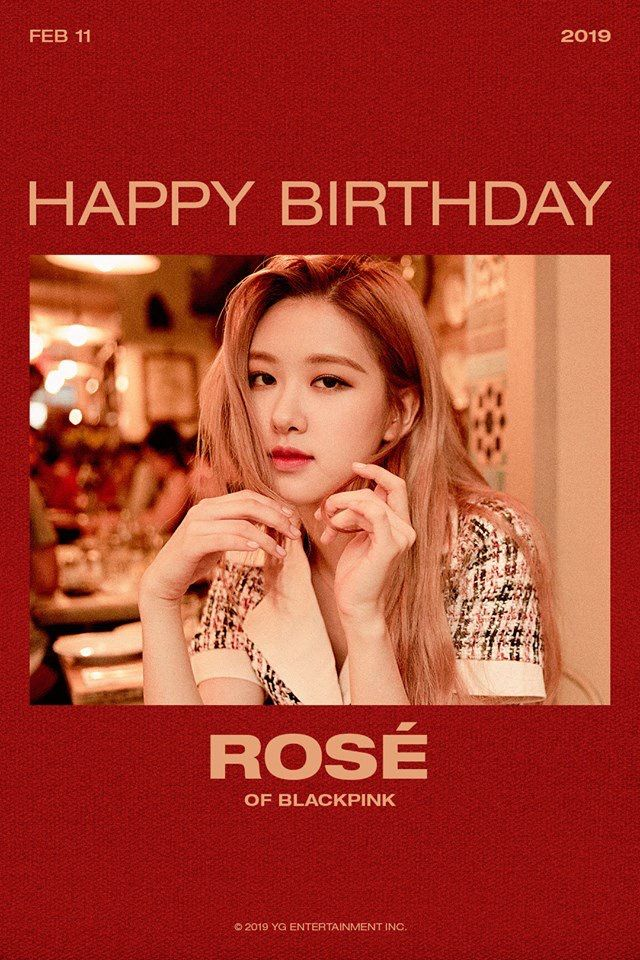 Pin by tongue technology on BLACKPINK - Park Chaeyoung (Rosé)   Happy birthday rose, Pink happy ...