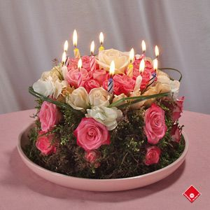 Birthday Cake Made Out Of Fresh Flowers Coffee To Make An - Birthday cake n flowers