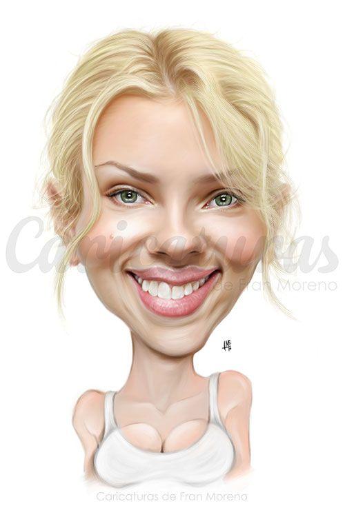 "CARICATURAS DE FAMOSOS: ""Scarlett Johansson"" por Fran Moreno"