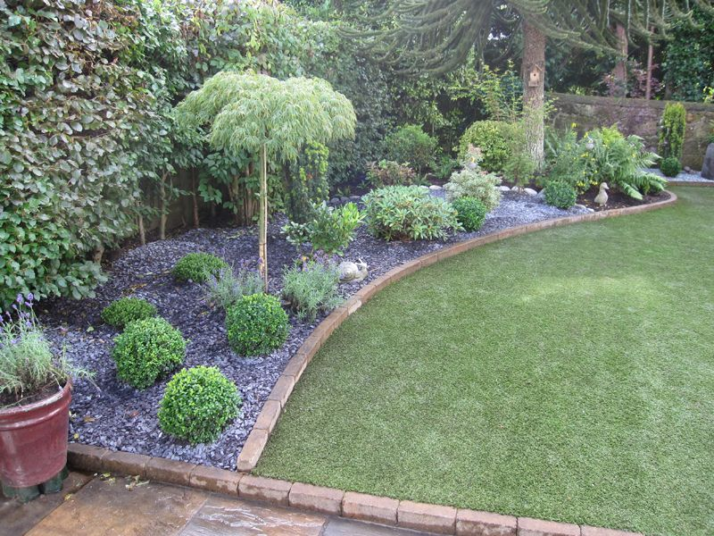 Small gravel garden design ideas low maintenance garden800 for Easy care landscape design