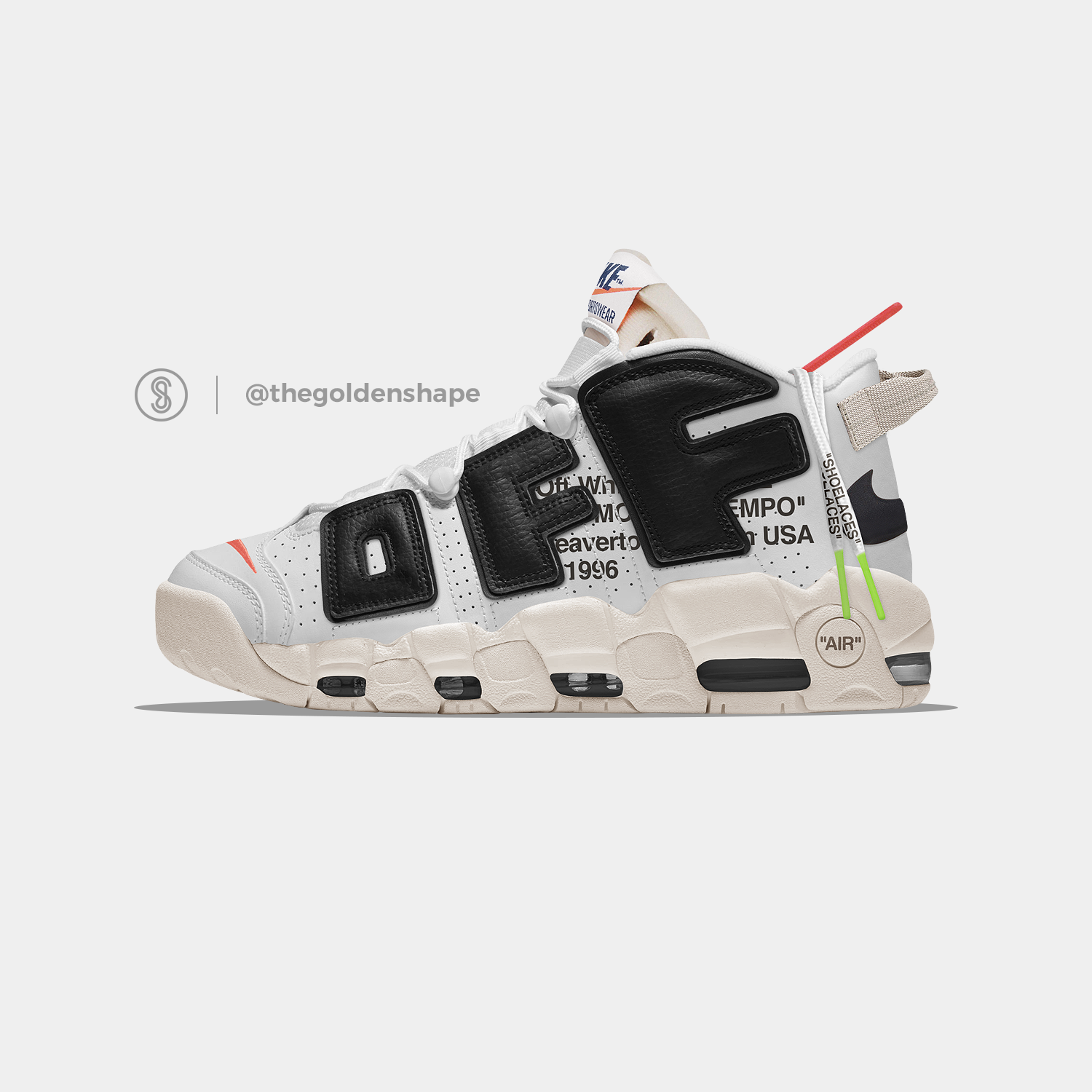 Off White X Nike Air More Uptempo The Twelve Sneakers Men Fashion Nike Air Uptempo Sneakers Men