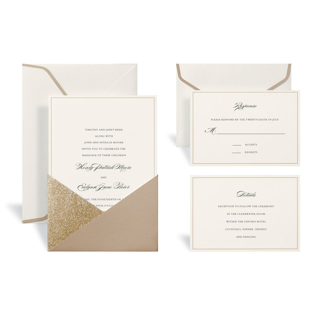 Buy the Gold Wedding Invitation Kit By Celebrate It™ at Michaels.com ...