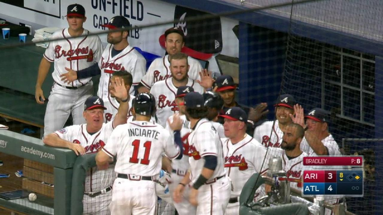 Braves Score Two On A Wild Play Atlanta Braves Braves Atlanta