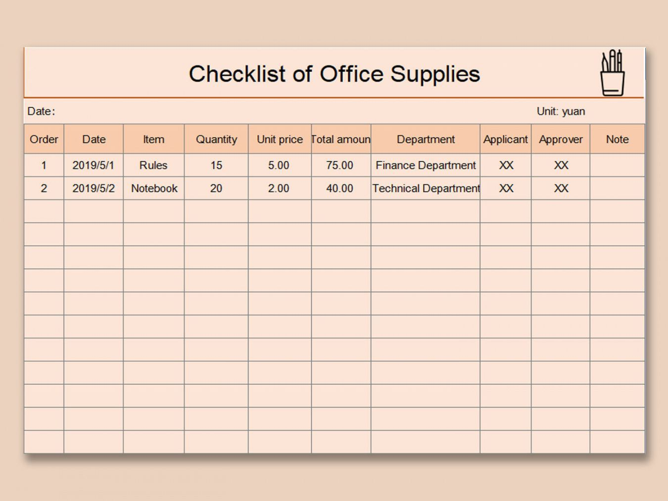 Browse Our Sample Of Office Supply Checklist Template Office Supplies Checklist Checklist Template Checklist