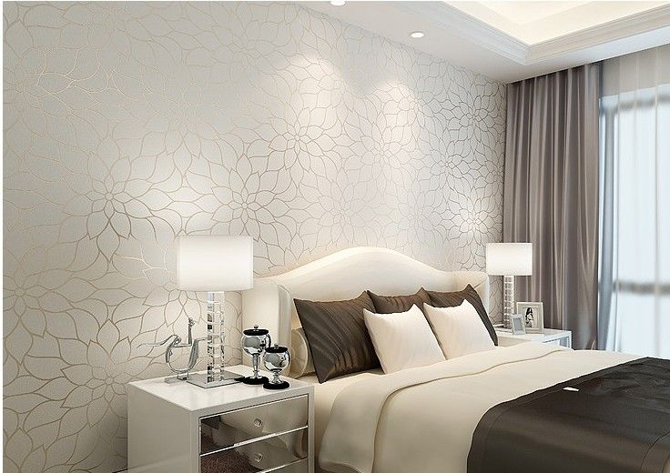 Free Shipping Off White Jacquard Non Woven Wallpaper Fashion Wallpaper Wall Paper Roll For Living Room