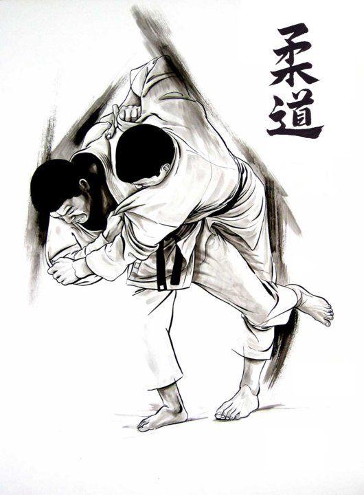 ..: harai goshi with open collar grip :..