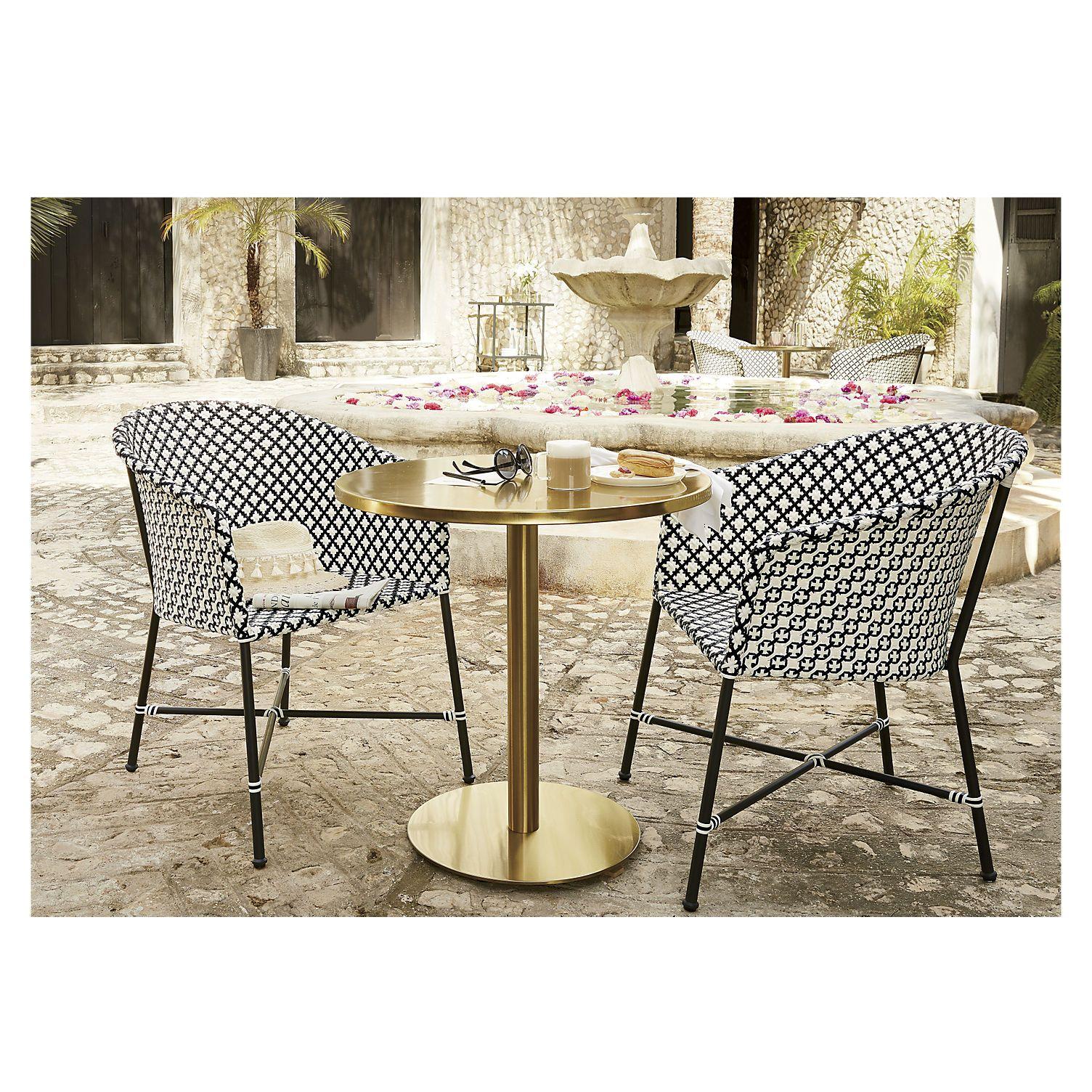 Brava outdoor wicker dining chair cb2