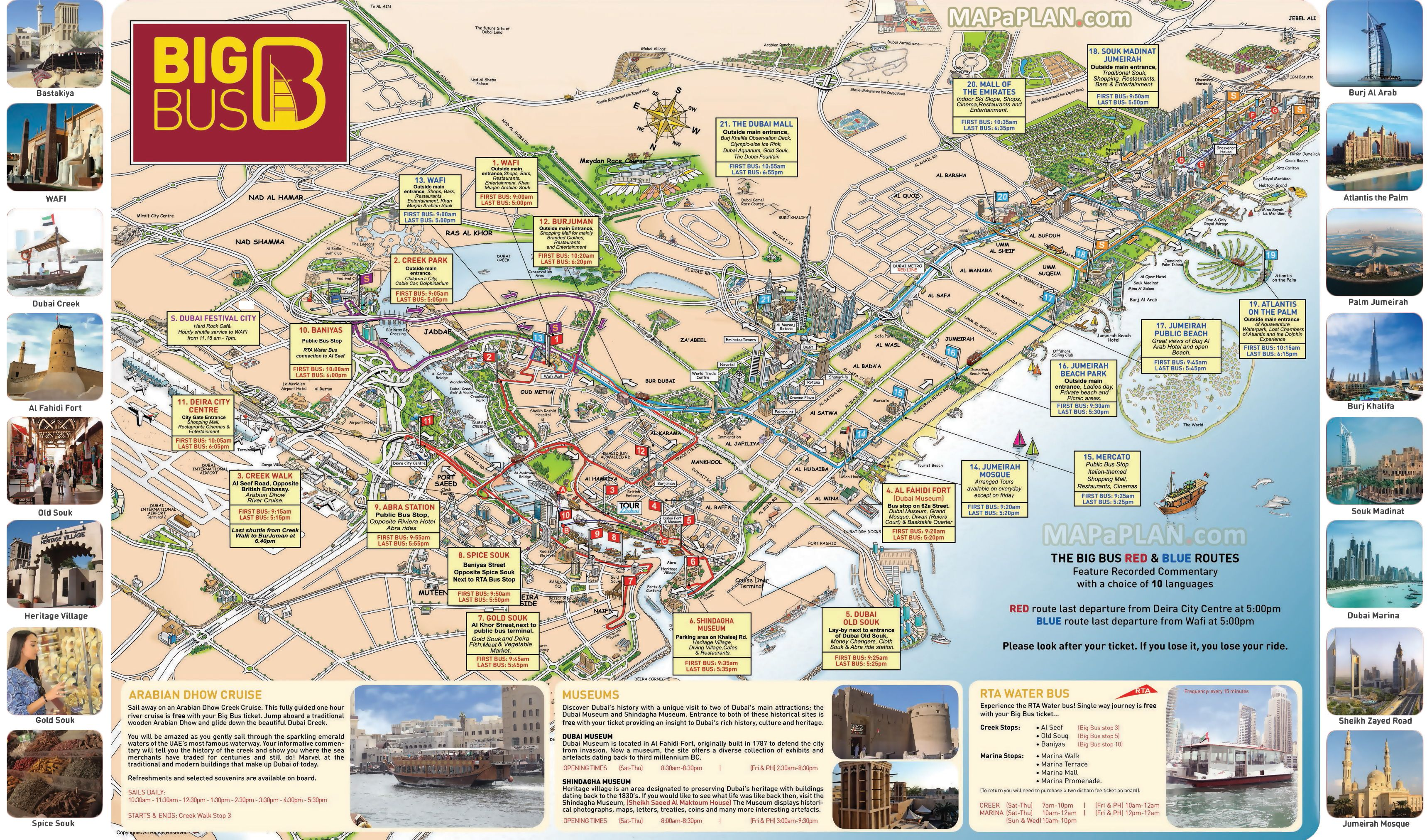 Hop-on hop-off Big Bus sightseeing tour map | big bus tour world on