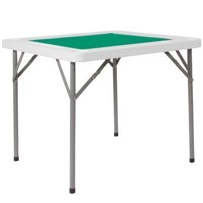 34 5 Square Granite White Folding Game Table With Green Playing