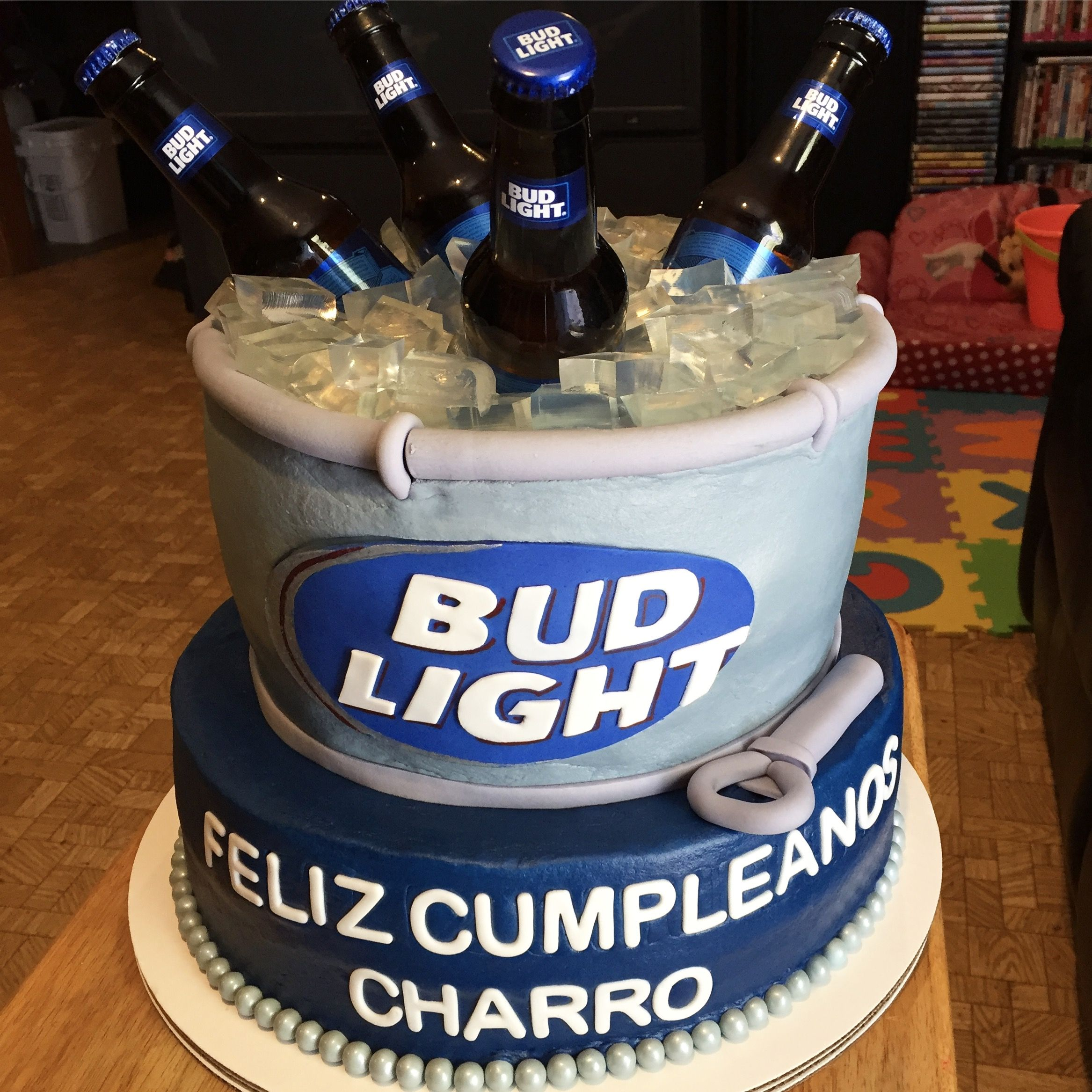 Awe Inspiring Bud Light Cake With Images Dad Birthday T Bud Light Personalised Birthday Cards Cominlily Jamesorg