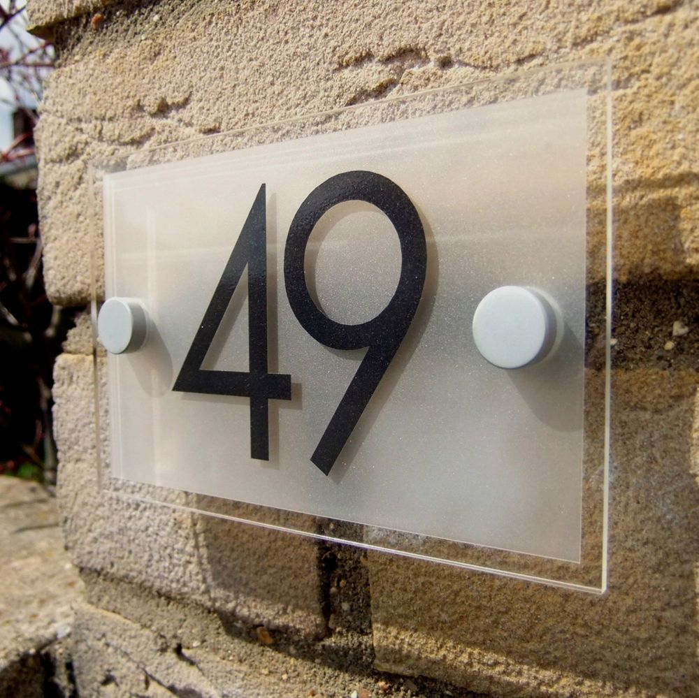 Details About ACRYLIC HOUSE NUMBER / DOOR NUMBER / SIGN