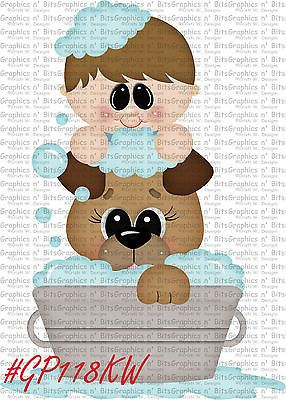 S- SL- PAMPERED POOCH PUPPY WOOF DOG ~ Scrapbook Embellishment GNB676M