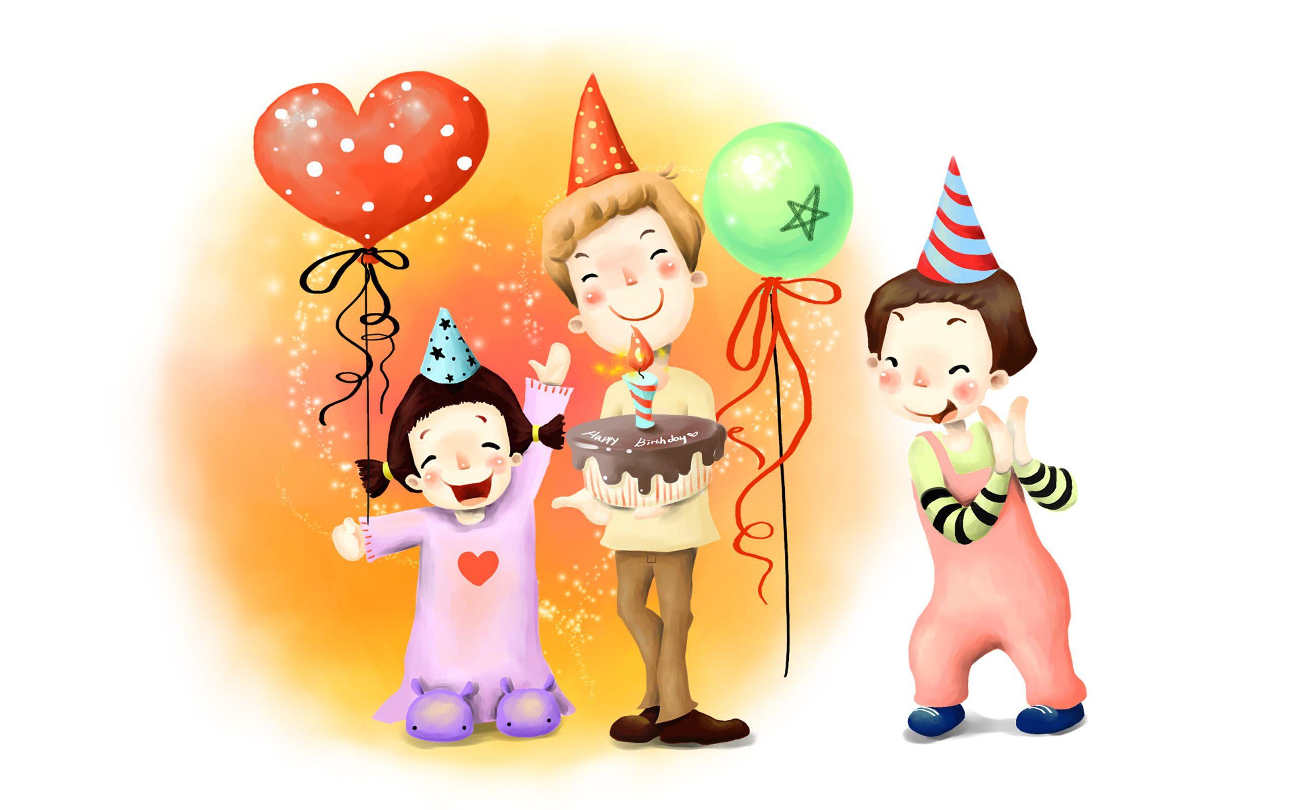 Birthday Illustrations Birthday Cartoon Wallpaper