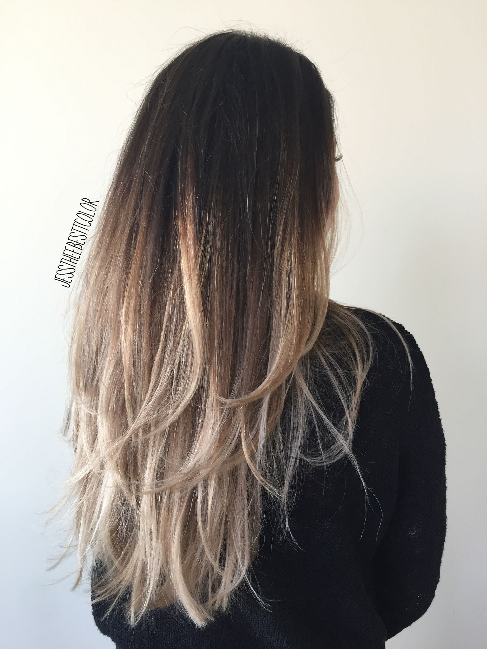 Ombre Balayage Ash Blonde Ombre Hair Dark Ombre Hair Ombre