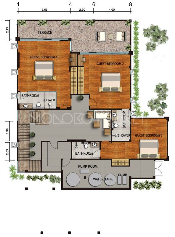 Nat1090 3 4 Bedroom Luxury Sea View Villas Naithon Diy House Plans Architectural House Plans Luxurious Bedrooms