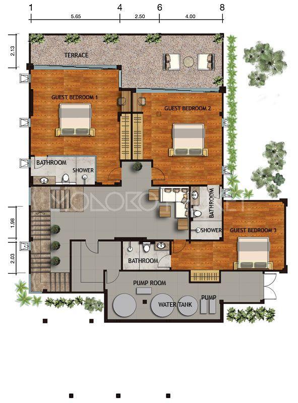 Nat1090 3 4 Bedroom Luxury Sea View Villas Naithon Diy House Plans Architectural House Plans Luxurious Bedrooms