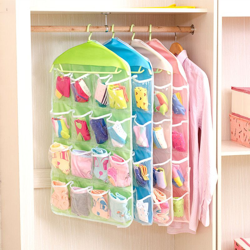 1 PC Clear Over Door Hanging Bag Shoe Rack Hanger Storage Tidy Organizer 16 Pockets Home decor Storage hanger bags High quality  sc 1 st  Pinterest & 1 PC Clear Over Door Hanging Bag Shoe Rack Hanger Storage Tidy ...