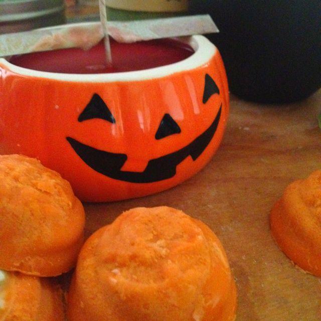 Working on #Halloween Zombees! #ZombeeCandle #soy #candles
