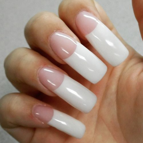 Long French Manicure Curved Nails Long French Tip Nails Long French Nails