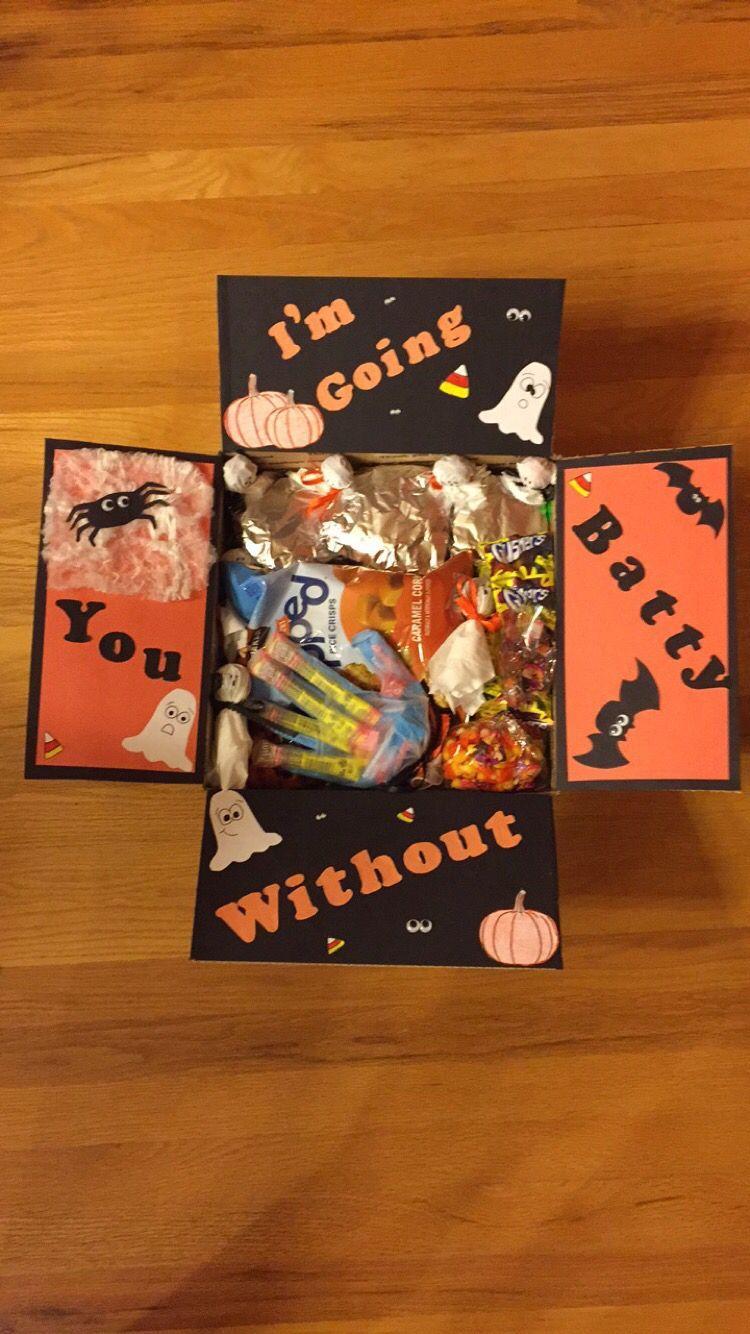 Halloween Care Package #spookybasketideas Halloween Care Package #boyfriendgiftbasket