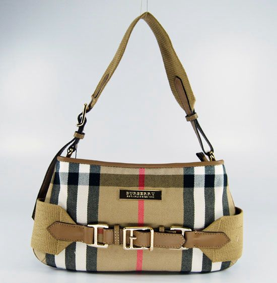 Burberry Canvas With Leather Handbag 9801