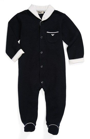 84496c4ab8e4 Armani Junior Quilted One-Piece (Baby Boys) available at  Nordstrom ...