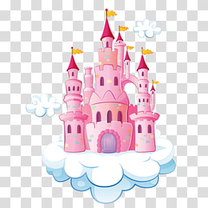 Pink And White Castle Illustration Cinderella Prince Charming Cartoon Disney Princess Deskt Cinderella And Prince Charming Castle Illustration Disney Cartoons