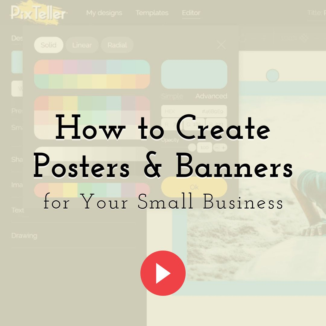 How to Create Posters and Banners for Your Small