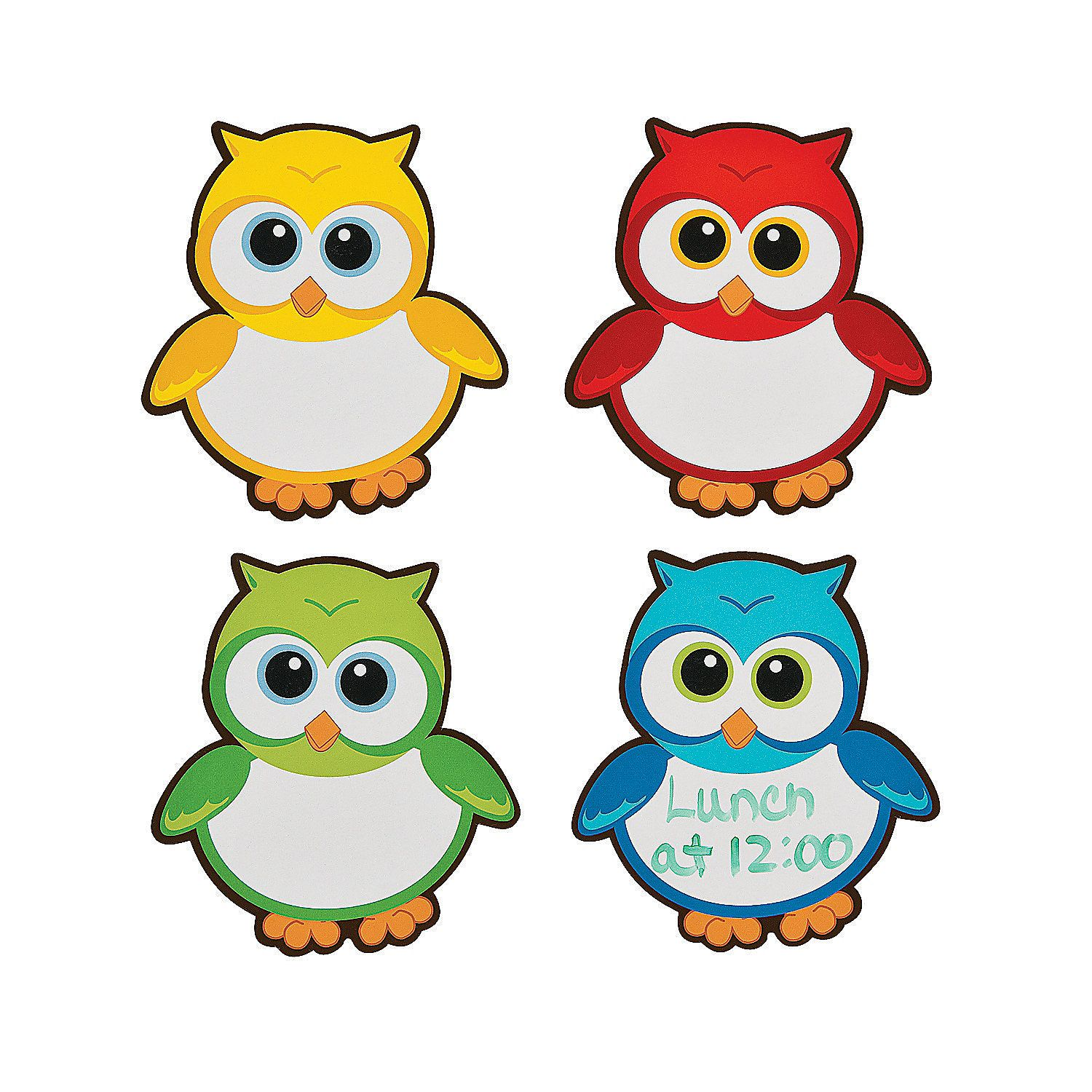 Owl Dry Erase Magnets Great For
