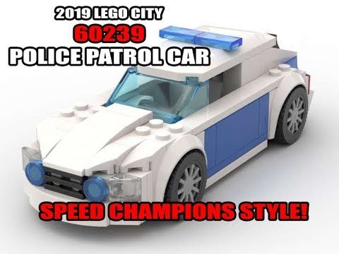 Lego City 60239 Police Patrol Car Speed Champions Style Lego City Police Patrol Lego