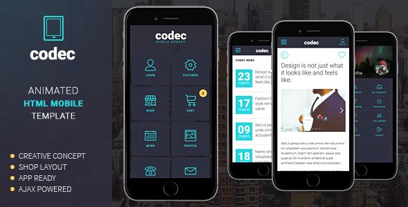 Free Codec Mobile Html Template